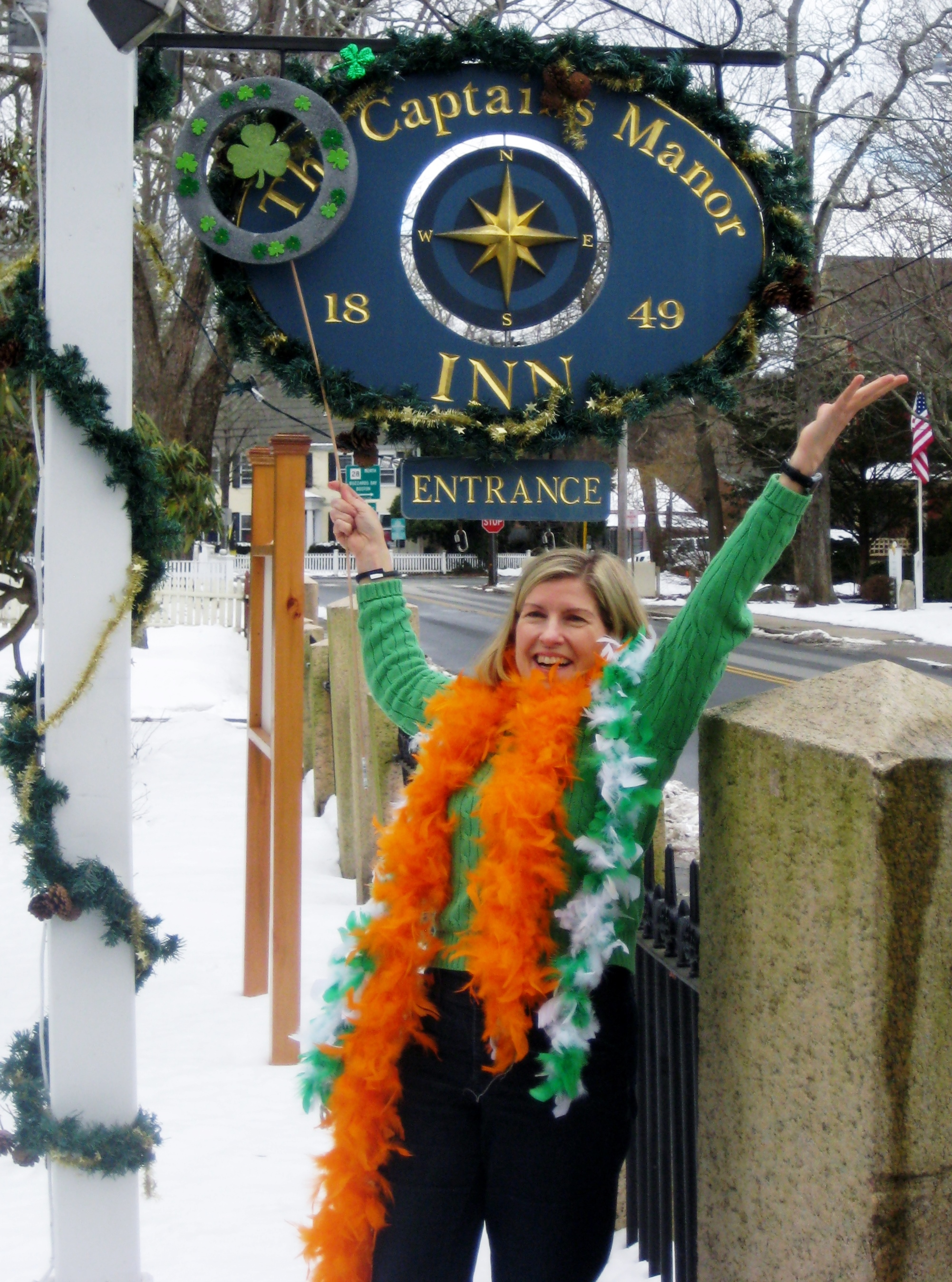 Falmouth Village becomes O'Falmouth Village for St. Paddy's Day